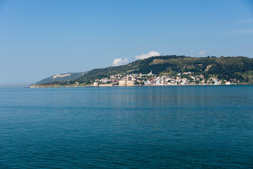 The crossing through the strait of Dardanelles