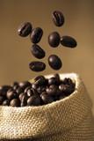 Coffee Bean Caffeine in sacks poster