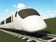 3d Illustration of Modern High-Speed Train