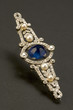 brooch with pearls and sapphire