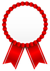 Award Badge Red