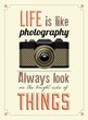 Vintage Old Camera Typographical Poster