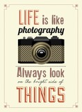 Vintage Old Camera Typographical Poster poster