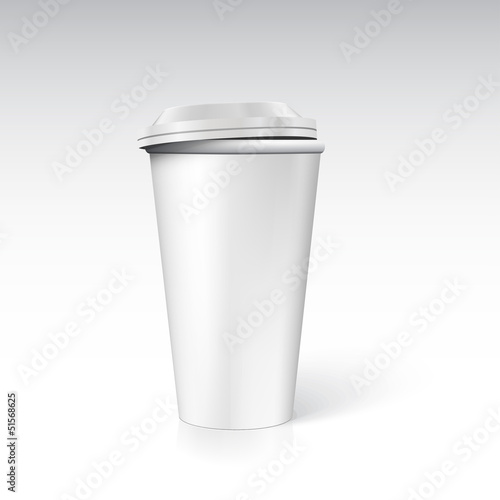 Photorealistic coffee cup. Ready for your design.