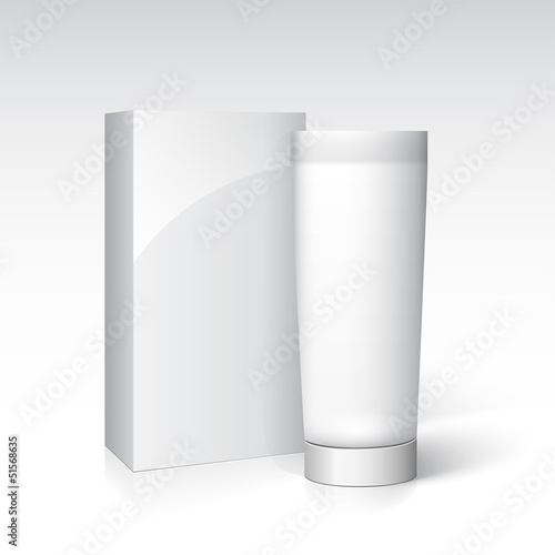 Box and tube of cream. Ready for your design.
