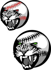 baseball with angry wildcat