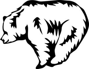 stylized bear