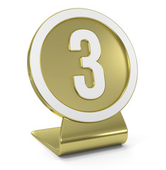 """Three"" Golden Icon"