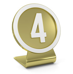 """Four"" Golden Icon"