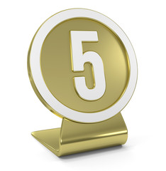 """Five"" Golden Icon"