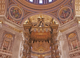Saint Peter's Baldachin by Bernini