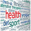 """HEALTH"" Tag Cloud (medicine weight fitness exercise diet)"