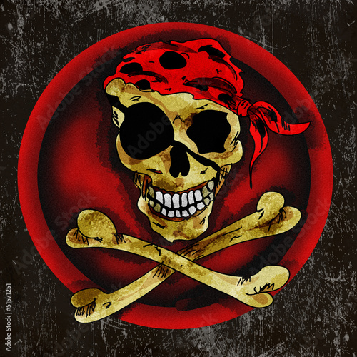 Pirate scull sign