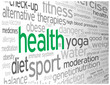 """HEALTH"" Tag Cloud (medicine weight fitness healthy lifestyle)"