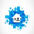 Real estate social network illustration