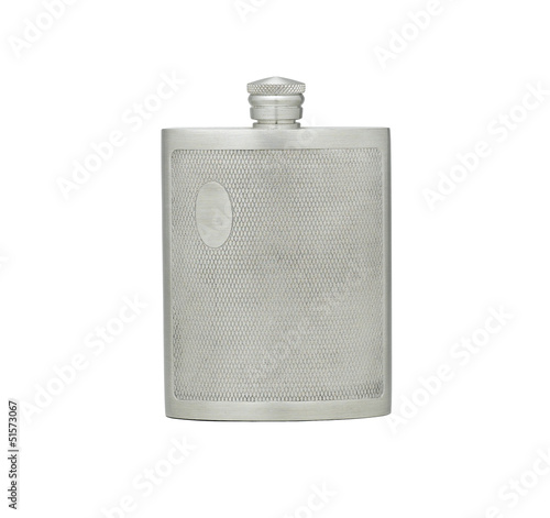Outdoor pewter hip flask for water or alcohol