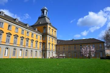 Hauptgebäude der Universität Bonn im Frühling
