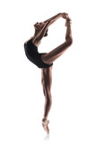 Fototapety beautiful ballet dancer isolated