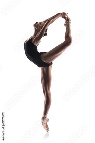 beautiful ballet dancer isolated Plakát