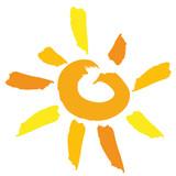 Soleil pinceau