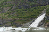 A Waterfall close to Mendenhall Glacier near Juneau, Alaska