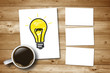 Kaffeetasse mit Idee - Konzept