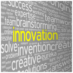 """INNOVATION"" Tag Cloud (ideas projects solutions design quality)"