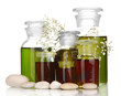 Medicine Bottles Isolated On W...