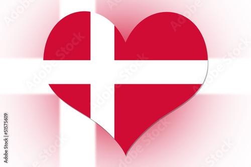 Danish Flag heart