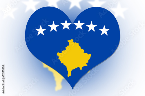 Kosovo Flag heart