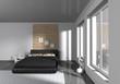 modern bedroom - interior