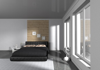 modern bedroom - interior