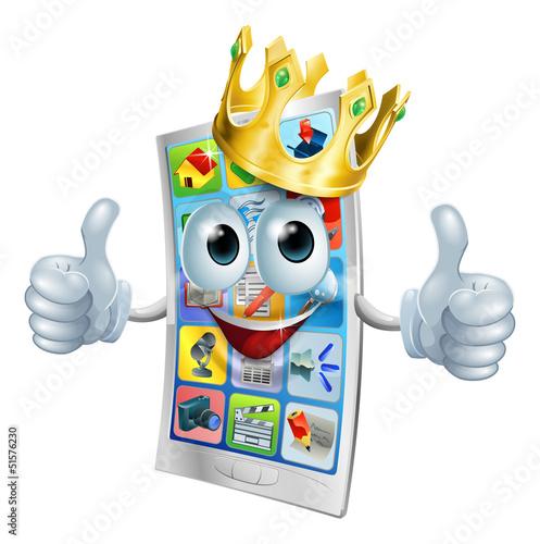 Cell phone cartoon king