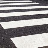 Fototapety pedestrian crossing marked with white paint