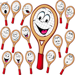 Tennis racket cartoon
