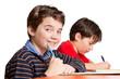 Freundlicher Junge / Schüler im Klassenzimmer