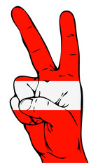 Peace Sign of the Latvian flag
