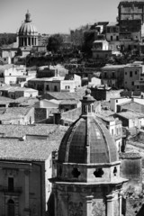 Italy, Sicily, Ragusa Ibla, view of the baroque town
