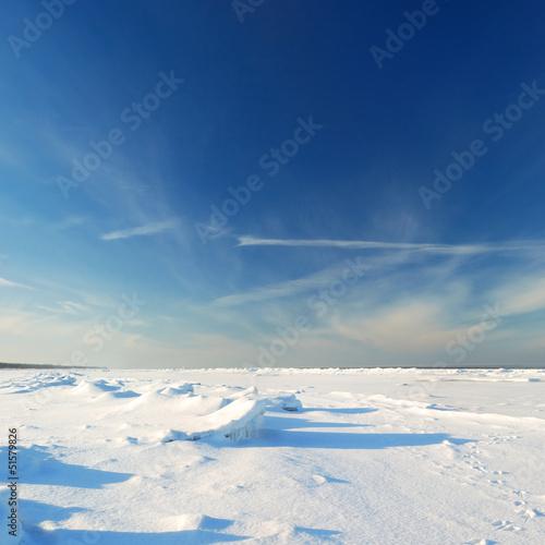 ice desert winter landscape - 51579826