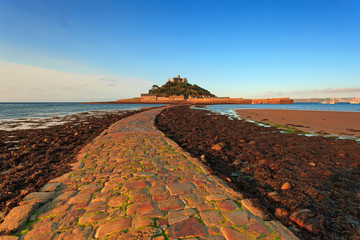 St Michaels Mount cobbled causeway