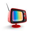 Red vintage TV