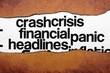 FInancial crisis headline