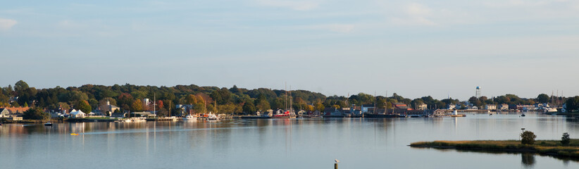 Mystic Seaport, Connecticut, panorama