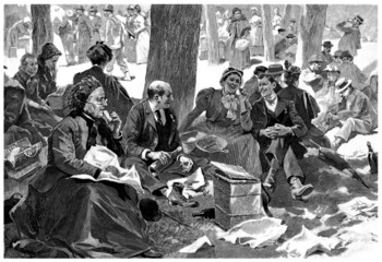 Family : Picnic - end 19th century