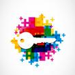colorful house key background