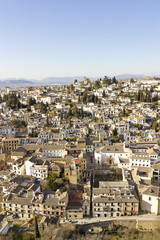 Overview of Granada. Andalusia, Spain.