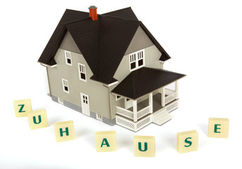 Modell von einem Einfamilienhaus