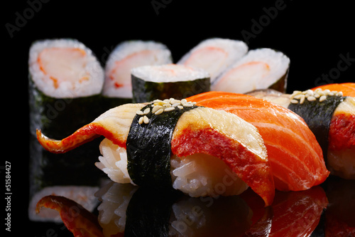 Fototapeten,sushi,schwarz,essen,japanese