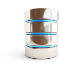 database icon 3d Illustrations on a white background