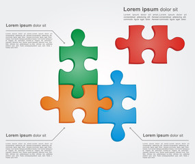 Concept puzzle with place for text. Vector for business design